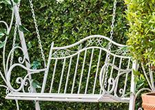 Závěsné zahradní houpací lavice