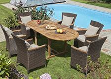 Umělý ratanový nábytek na zahradu